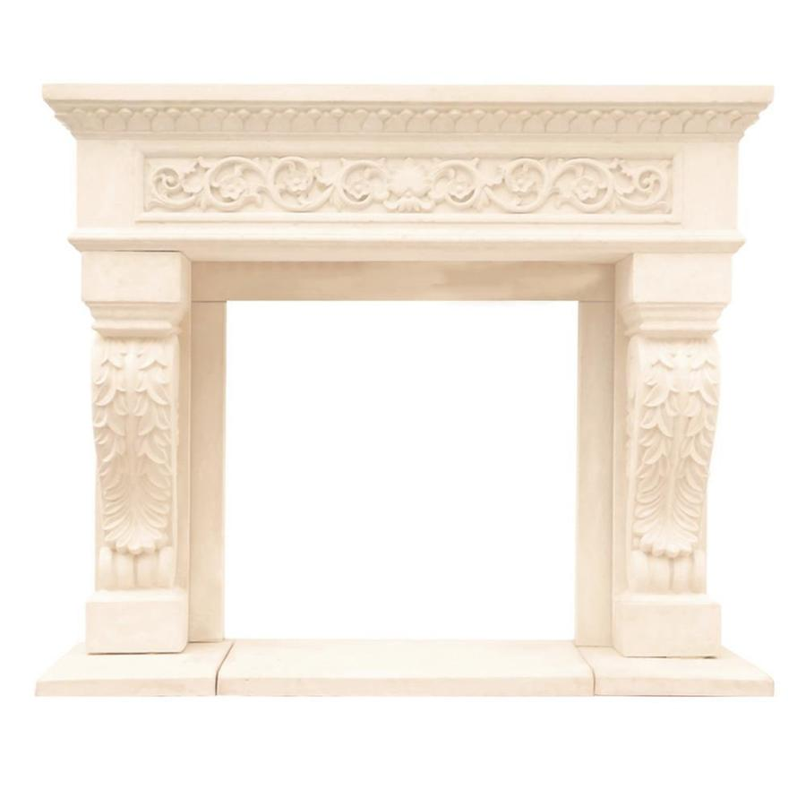 shop historic mantels limited chateau 62 in w x 52 in h distressed rh lowes com fireplace mantels lowes home depot electric fireplace mantels lowes