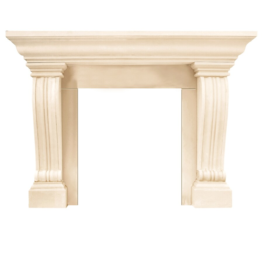 HISTORIC MANTELS LIMITED Symphony 54-in W x 47-in H Distressed Ivory Traditional Fireplace Surround