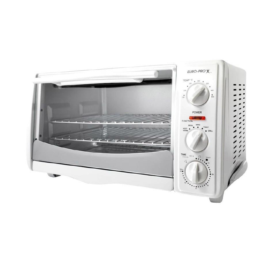 Shop Euro Pro 6 Slice White Toaster Oven At