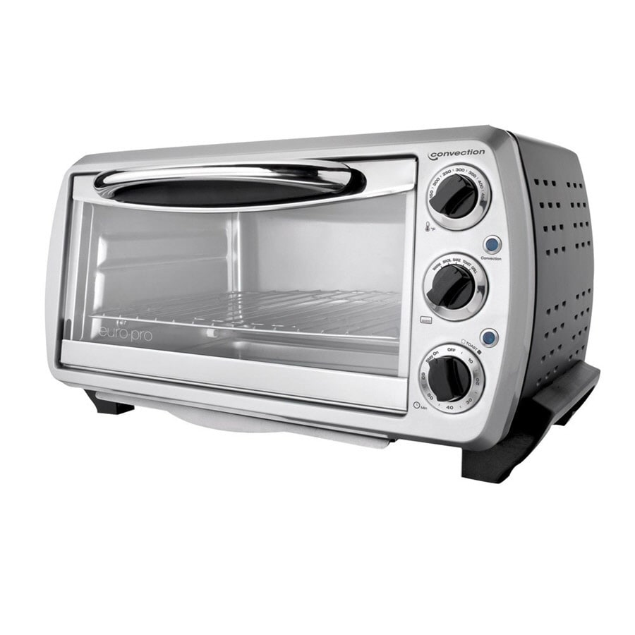 Euro-Pro 6-Slice Silver Convection Toaster Oven with Auto Shut-Off