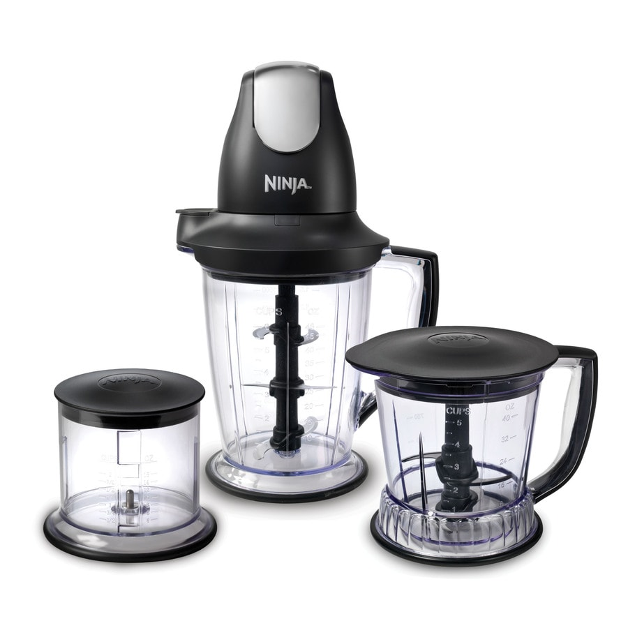 Shop Ninja Master Prep Pro 48-oz Black 1-Speed 450-Watt Pulse Control Blender at Lowes.com