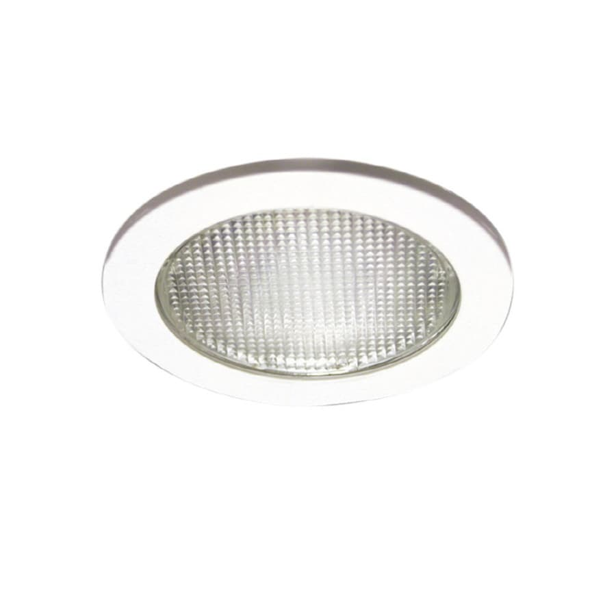 Recessed Lighting Housing For Shower : Halo white shower recessed light trim fits housing