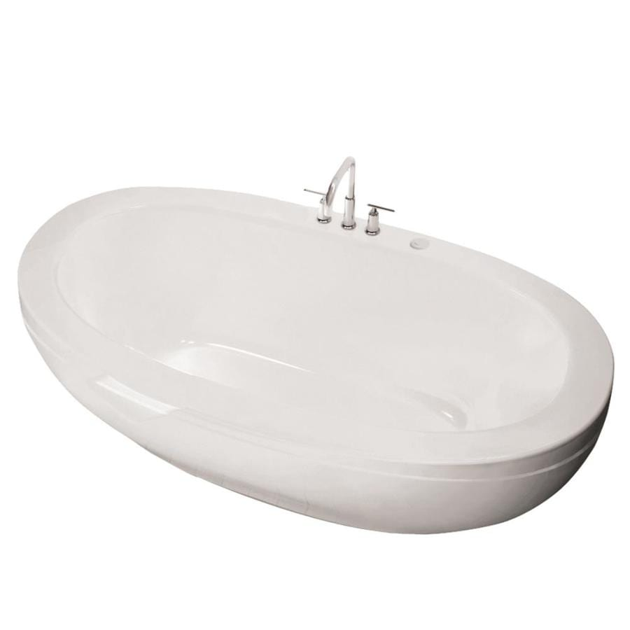 Shop MAAX Reverie 66.5-in White Acrylic Oval Center Drain ...
