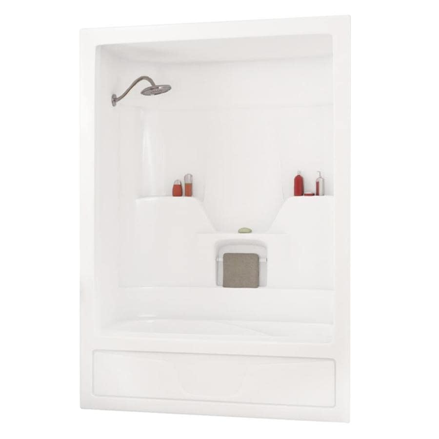 Shop MAAX Aspen White Shower Wall Surround Modular (Common: 60-in x ...