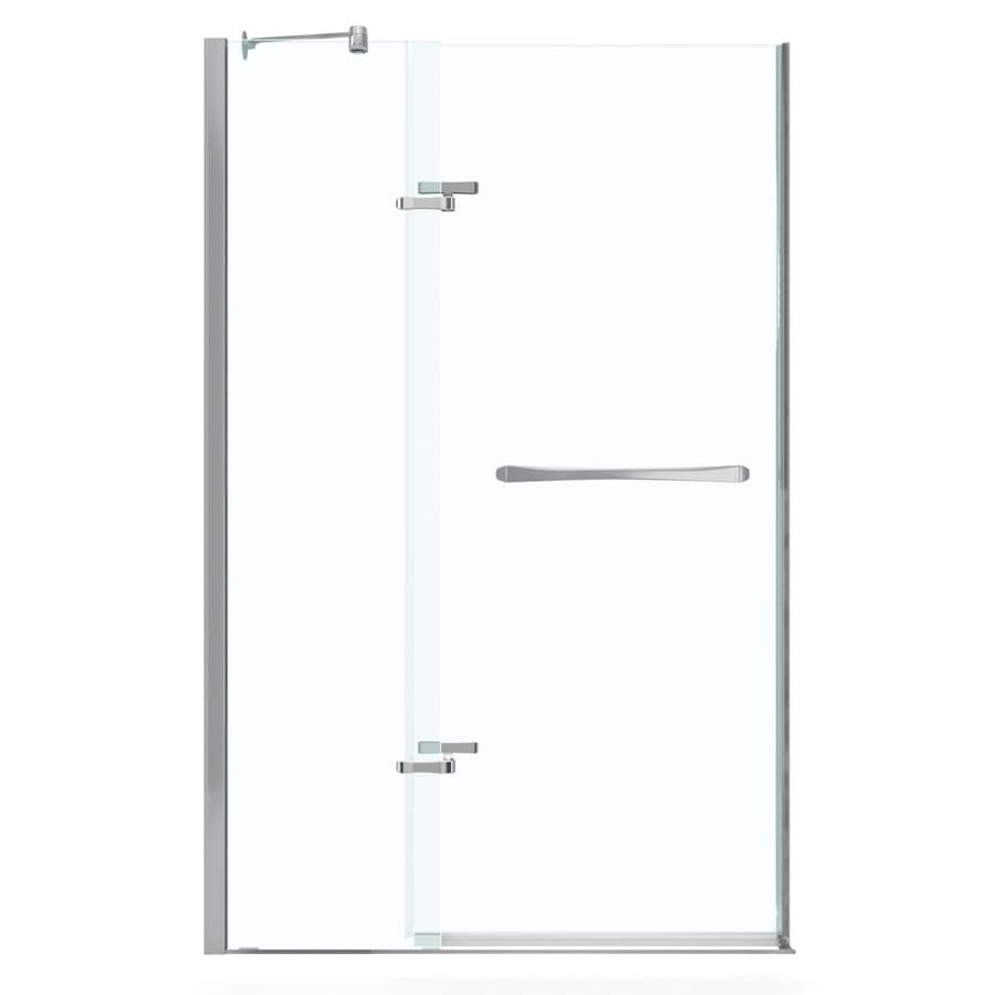 MAAX Reveal 56-in to 59-in Frameless Pivot Shower Door