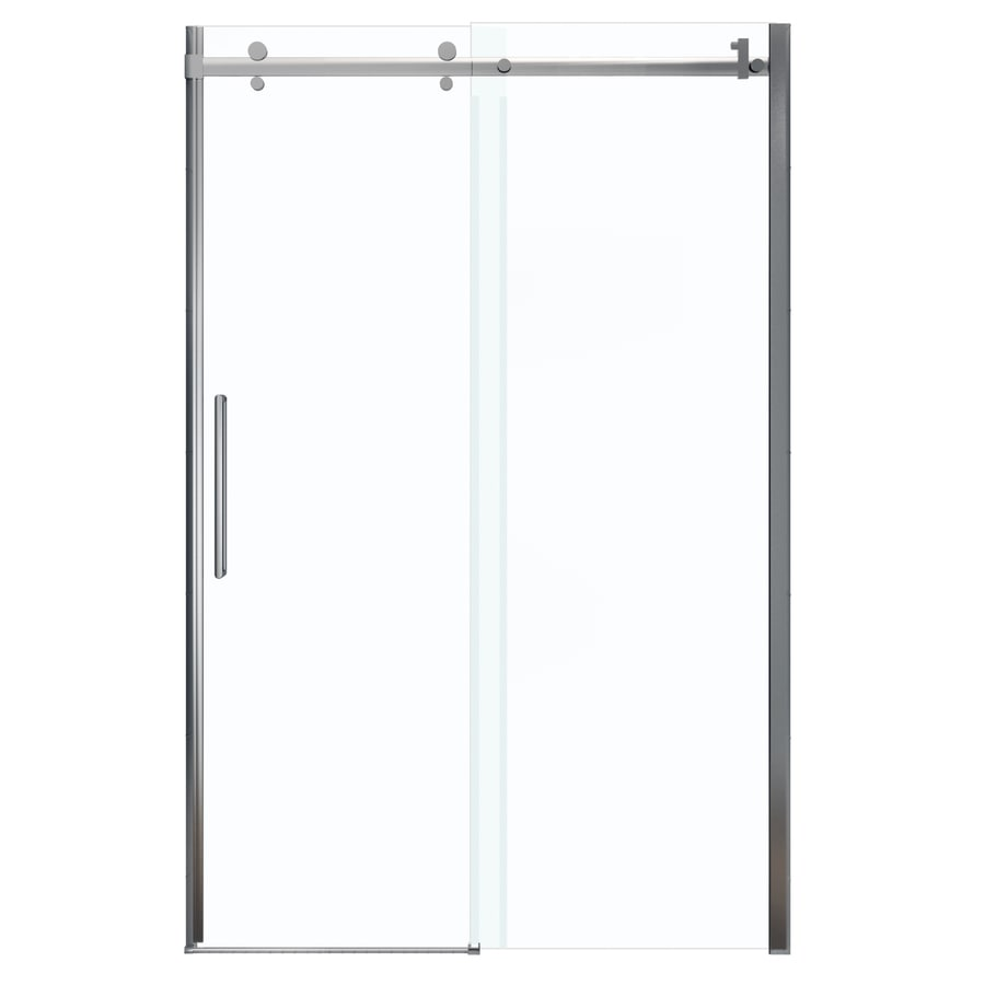 MAAX Halo 44.5-in to 47-in W x 78.75-in H Chrome Sliding Shower Door