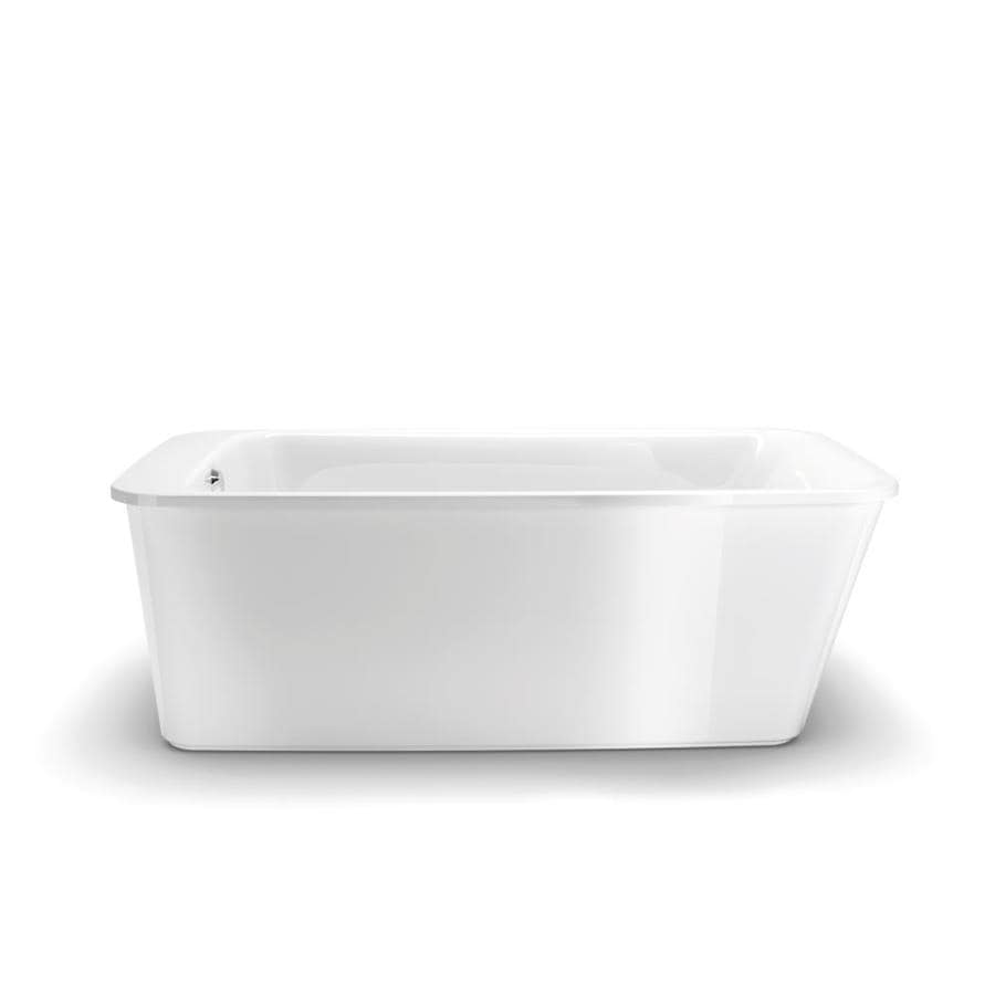 MAAX Lounge 64 In White Acrylic Freestanding Bathtub With Reversible Drain