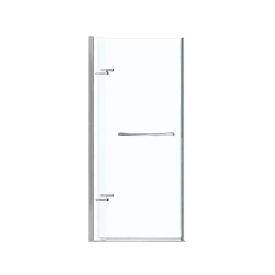 MAAX Reveal 32.5-in to 35.5-in Frameless Polished Chrome Pivot Shower Door