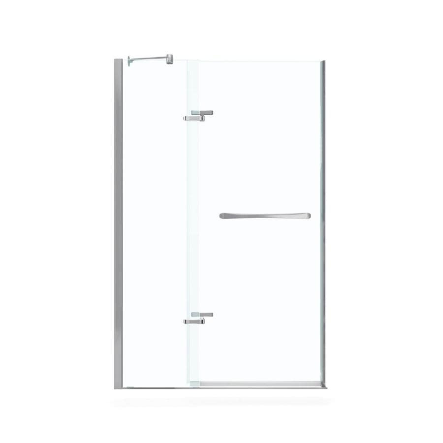MAAX Reveal 41.5-in to 44.5-in Polished Chrome Frameless Pivot Shower Door