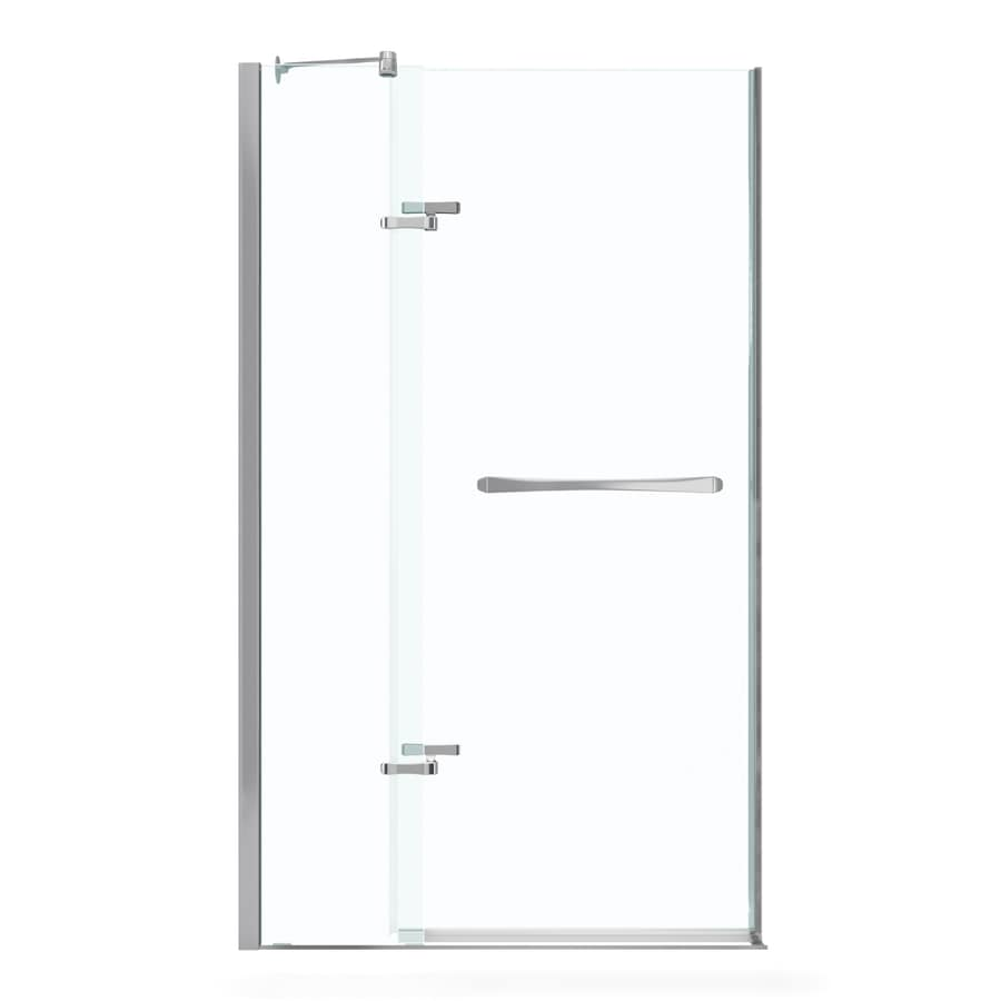 MAAX Reveal 38-in to 41-in Frameless Polished Chrome Pivot Shower Door