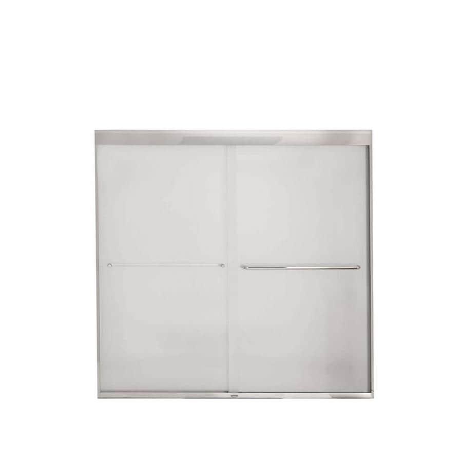 MAAX 59-in W x 57-in H Polished Chrome Frameless Bathtub Door