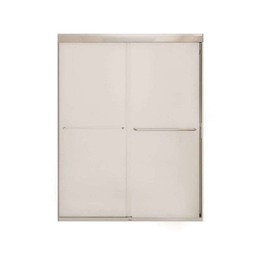 MAAX Aura 55-in to 59-in W x 71-in H Chrome Sliding Shower Door