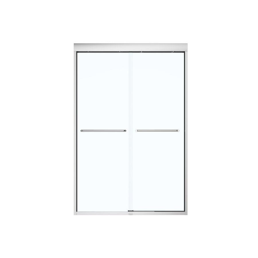 MAAX 43-in to 47-in W Frameless Chrome Sliding Shower Door