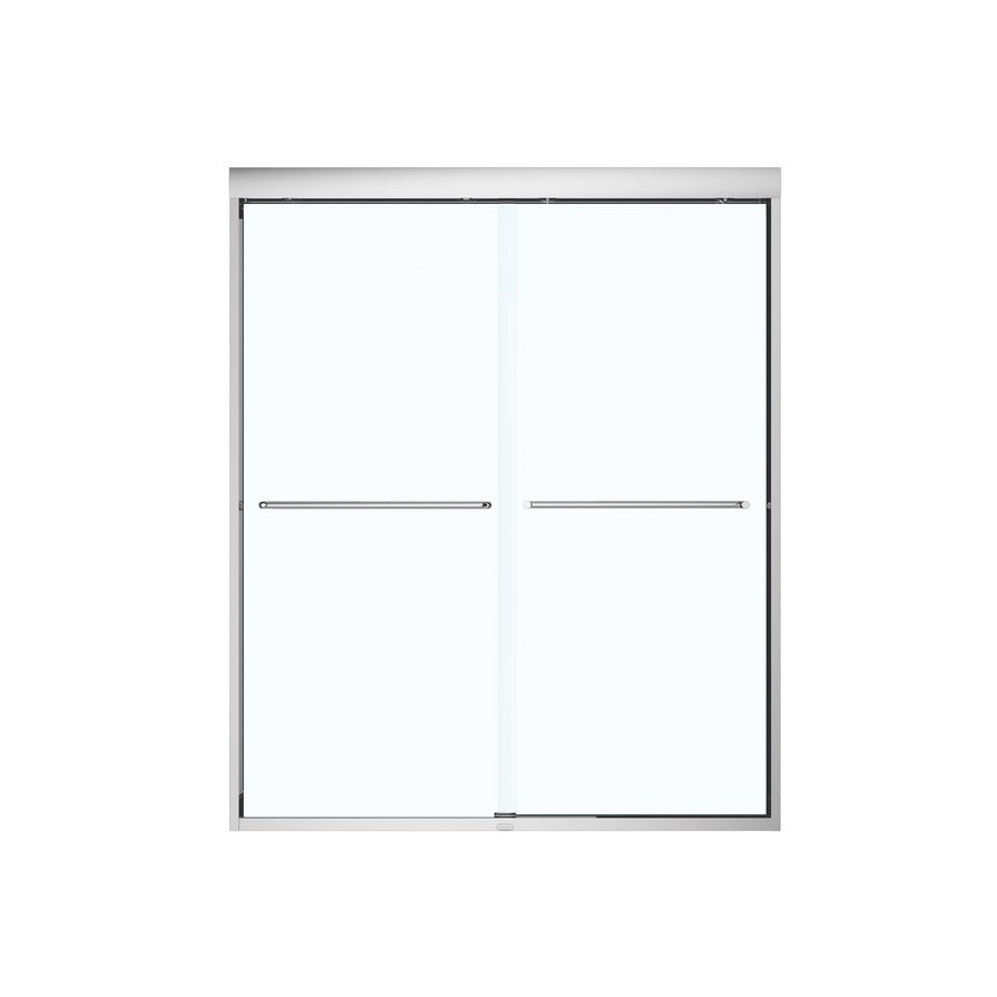 MAAX 55-in to 59-in Framed Chrome Sliding Shower Door