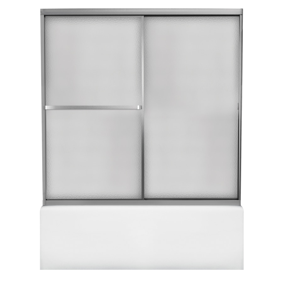 Shop MAAX ADVANTA I 59-in W x 55.5-in H Matte Chrome Bathtub Door at ...