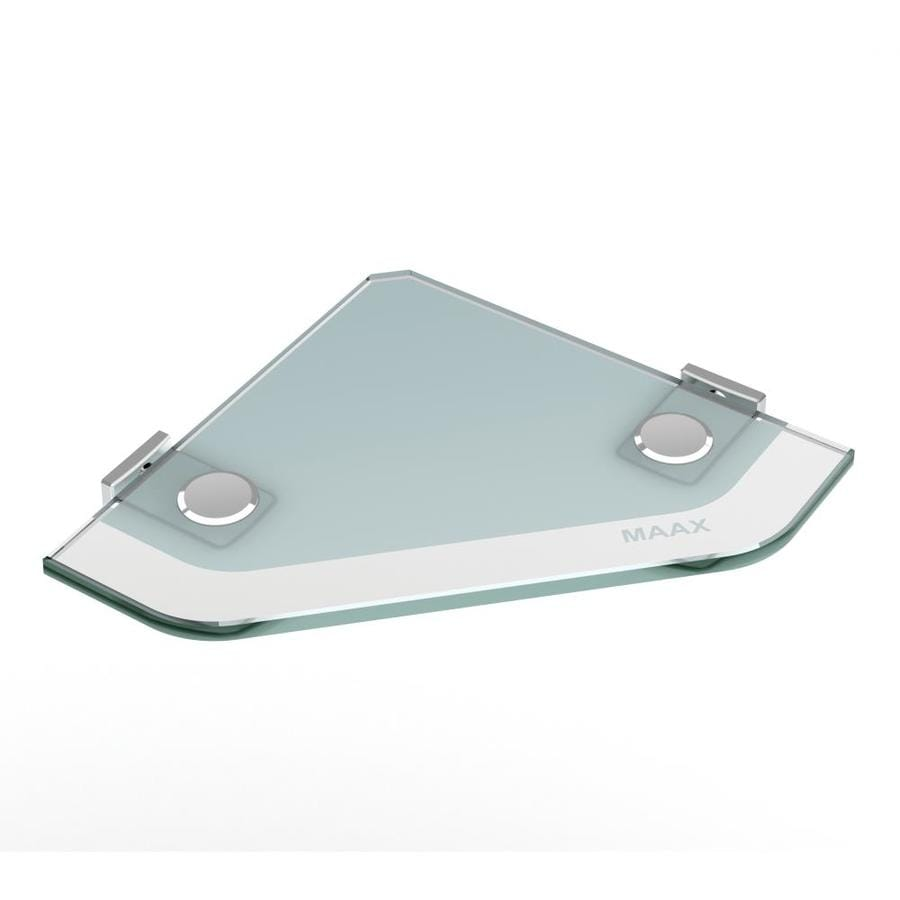 maax utile frosted with chrome hardware glass vanity tray - Bathroom Accessories Lowes
