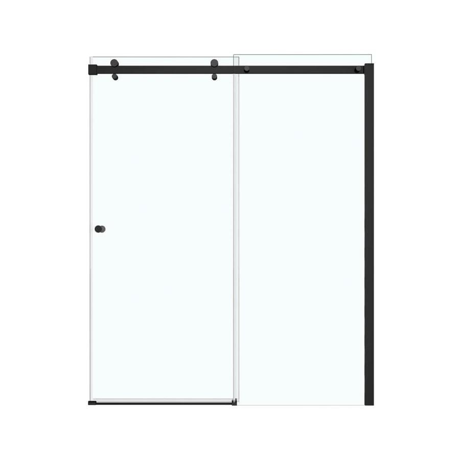 MAAX Luminescence 56.5-in to 59-in W x 72-in H Dark Bronze Sliding Shower Door