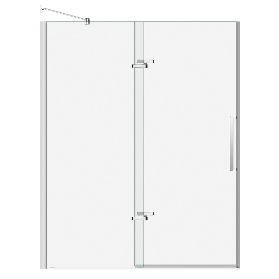 MAAX 56-in to 59-in Frameless Polished Chrome Pivot Shower Door