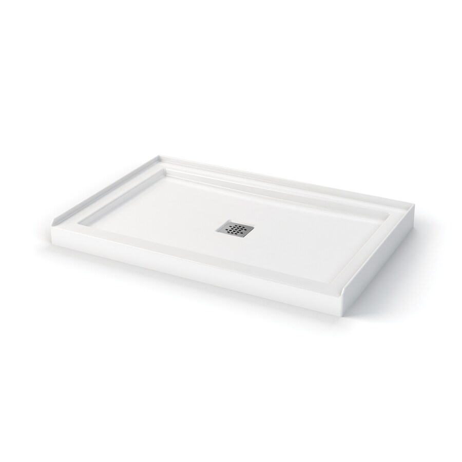 Merveilleux MAAX White Acrylic Shower Base (Common: 32 In W X 48 In