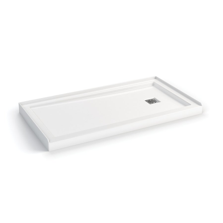 MAAX White Acrylic Shower Base (Common: 32-in W x 60-in L; Actual: 32-in W x 59.75-in L)