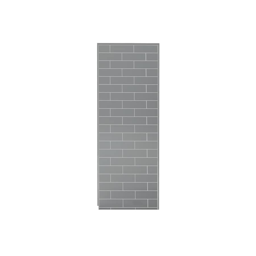 MAAX Utile Metro Ash Grey Shower Wall Surround Side Wall Panel (Common: 32-in x 3-in; Actual: 80-in x 32-in x 1.125-in)