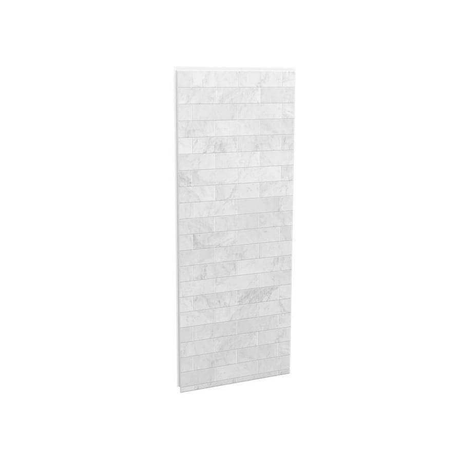 Beau MAAX Utile Marble Carrara Shower Wall Surround Side Wall Panel (Common:  32 In