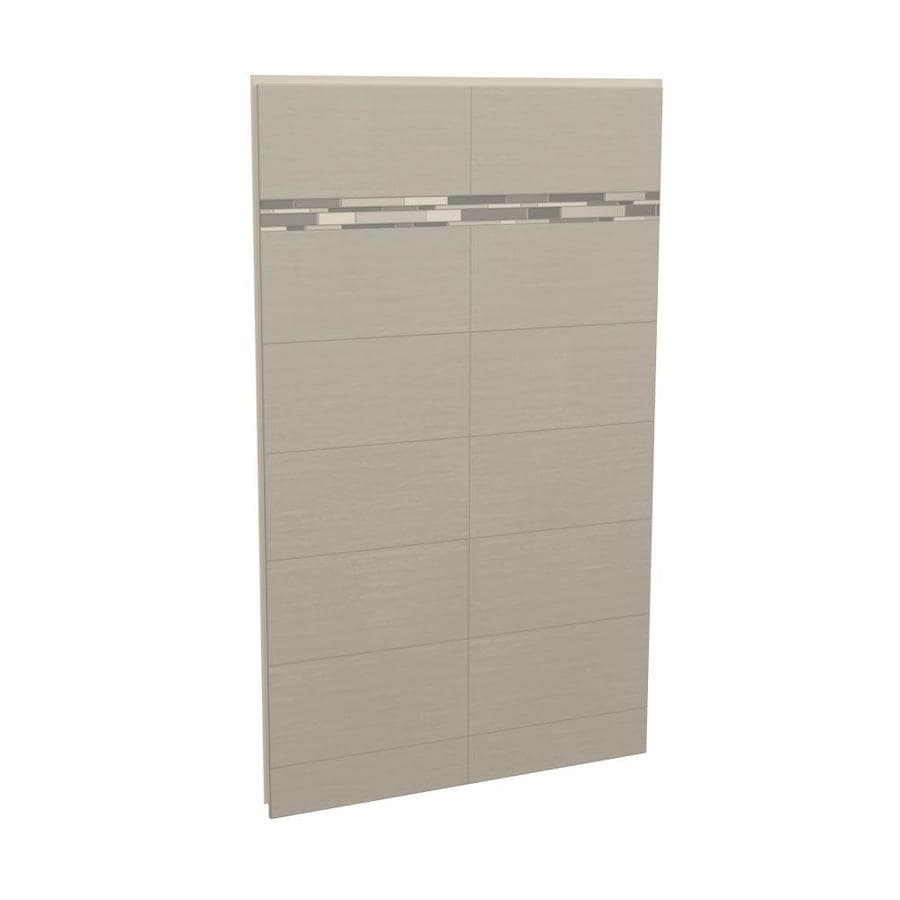 MAAX Utile Origin Greige Shower Wall Surround Back Panel (Common: 48-in x 3-in; Actual: 80-in x 48-in x 1.125-in)