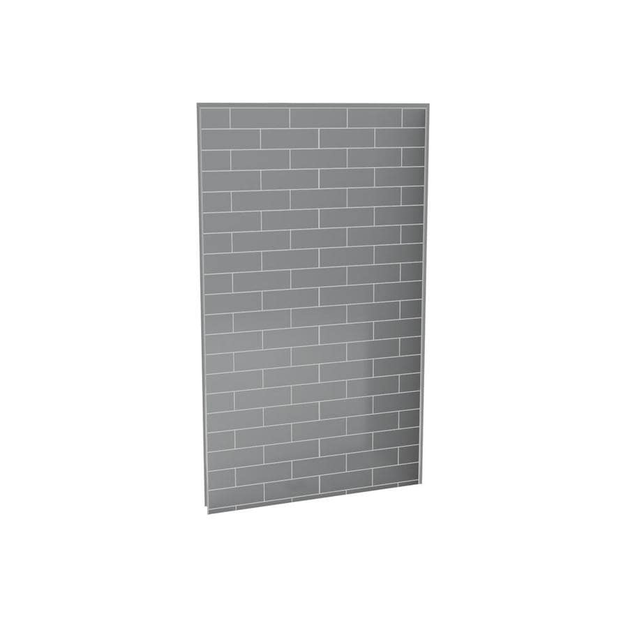 Shop MAAX Utile Metro Ash Grey Shower Wall Surround Back Wall Panel ...