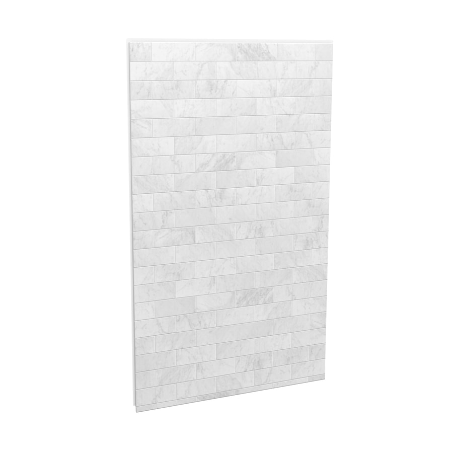 MAAX Utile Marble Carrara Shower Wall Surround Back Wall Panel (Common: 48-in x 3-in; Actual: 80-in x 48-in x 1.125-in)