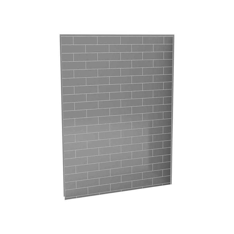 MAAX Metro Ash Grey Shower Wall Surround Back Panel (Common: 60-in x 3-in; Actual: 80-in x 60-in x 1.125-in)