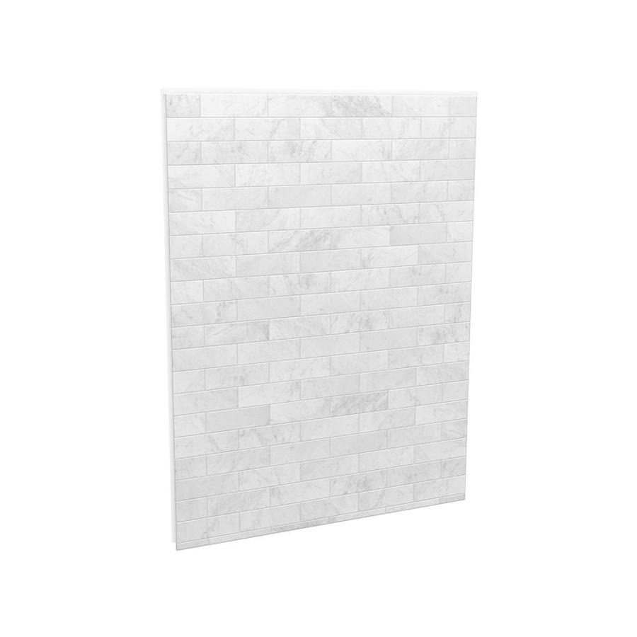 MAAX Utile Marble Carrara Shower Wall Surround Back Wall Panel (Common:  60 In