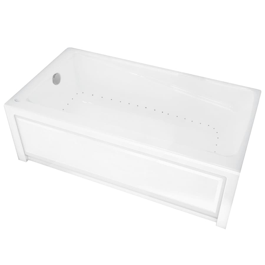 MAAX New Town 60-in L x 32-in W x 21-in H White Acrylic Rectangular Skirted Air Bath