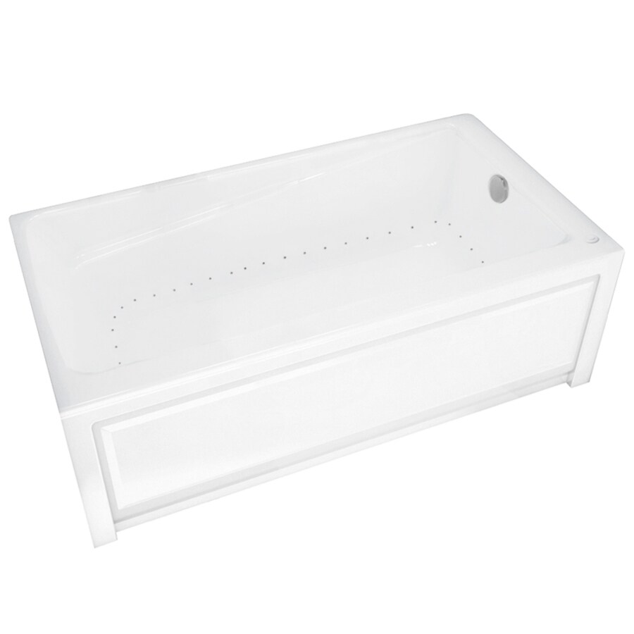 MAAX New Town 60-in White Acrylic Alcove Air Bath with Right-Hand Drain
