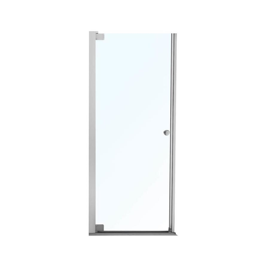 MAAX Madono 24.5-in to 26.5-in Frameless Polished Chrome Pivot Shower Door