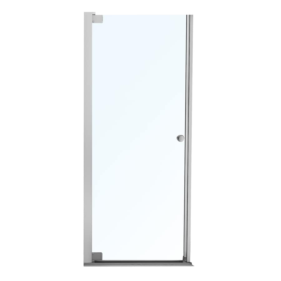 MAAX Madono 34.5-in to 36.5-in Frameless Polished Chrome Pivot Shower Door