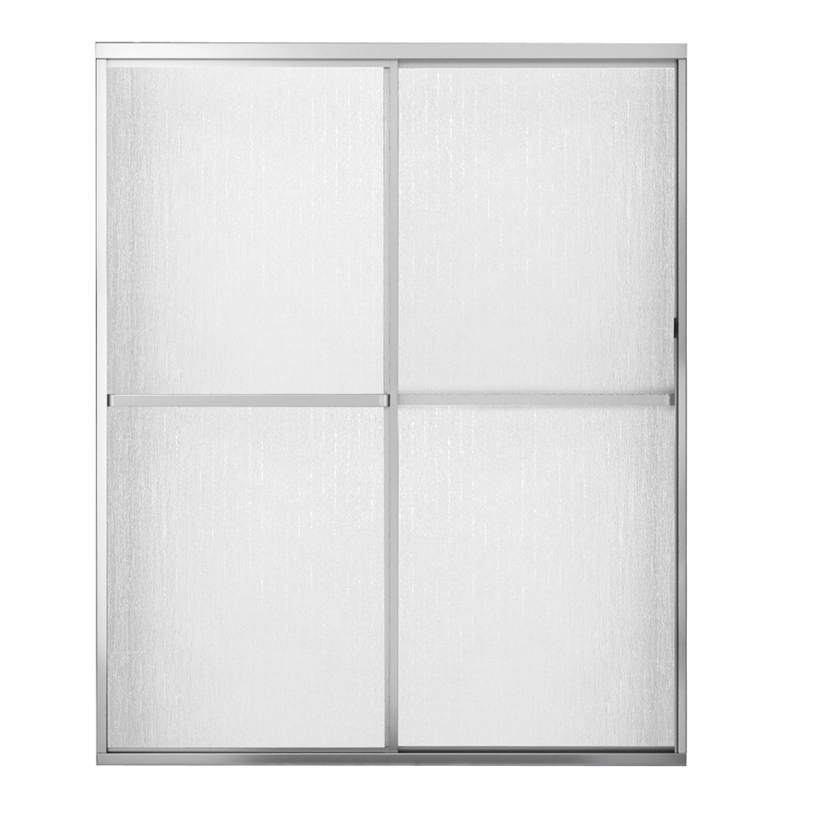 MAAX Polar 42-in to 47.5-in W x 68-in H Matte Nickel Sliding Shower Door