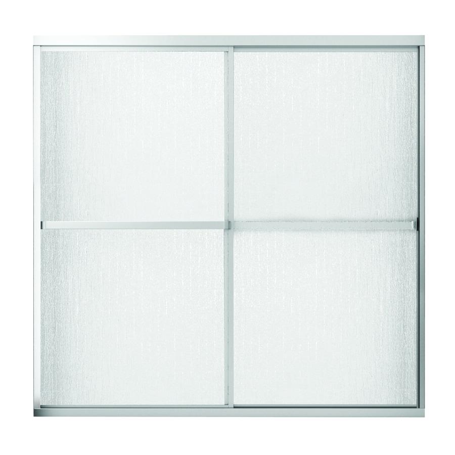 MAAX Polar 59.5-in W x 57.375-in H Matte Nickel Bathtub Door