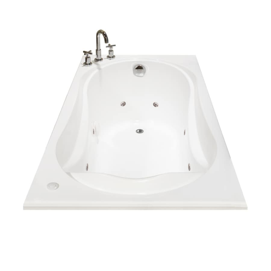 Shop MAAX Cocoon 65.825-in White Acrylic Drop-In Whirlpool Tub with ...