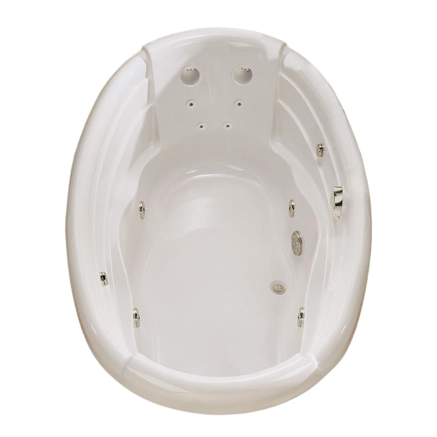 Shop MAAX Dolce Vita 2-Person White Acrylic Oval Whirlpool Tub ...