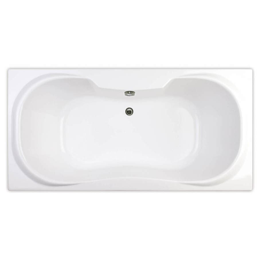 Shop MAAX Cambridge 71.5-in White Acrylic Alcove Whirlpool Tub with ...