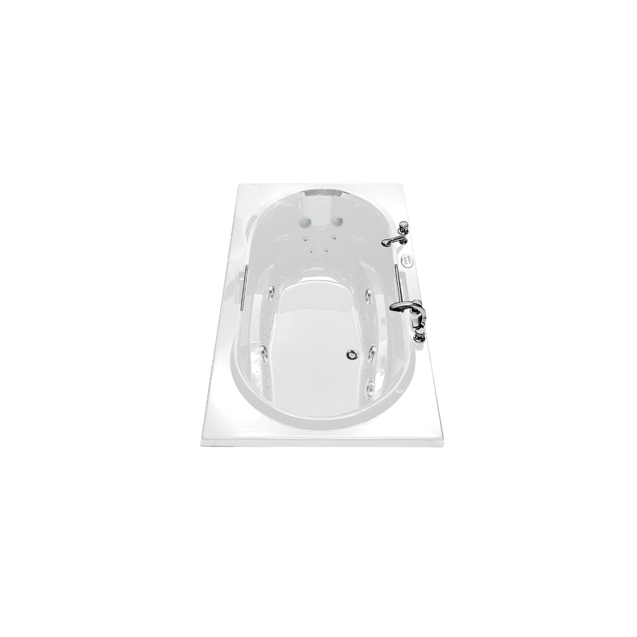 Shop MAAX Antigua 71.75-in White Acrylic Drop-In Whirlpool Tub And ...