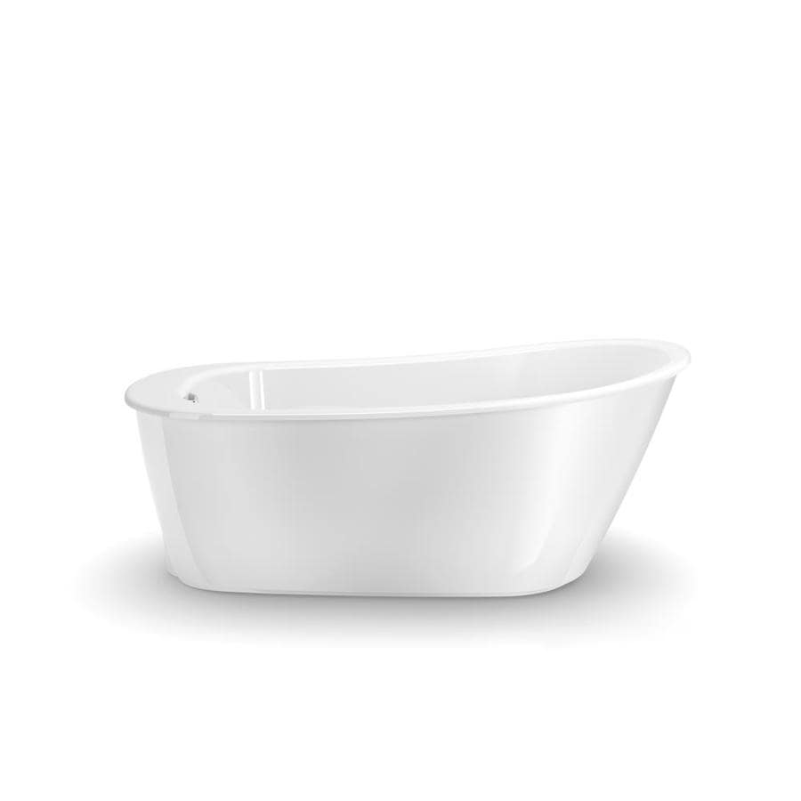 shop maax sax 60 in white gelcoat fiberglass freestanding bathtub with reversible drain at. Black Bedroom Furniture Sets. Home Design Ideas