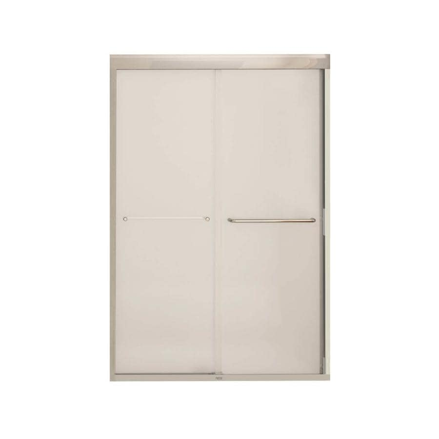 MAAX Aura 6 43-in to 47-in W x 71-in H Chrome Sliding Shower Door