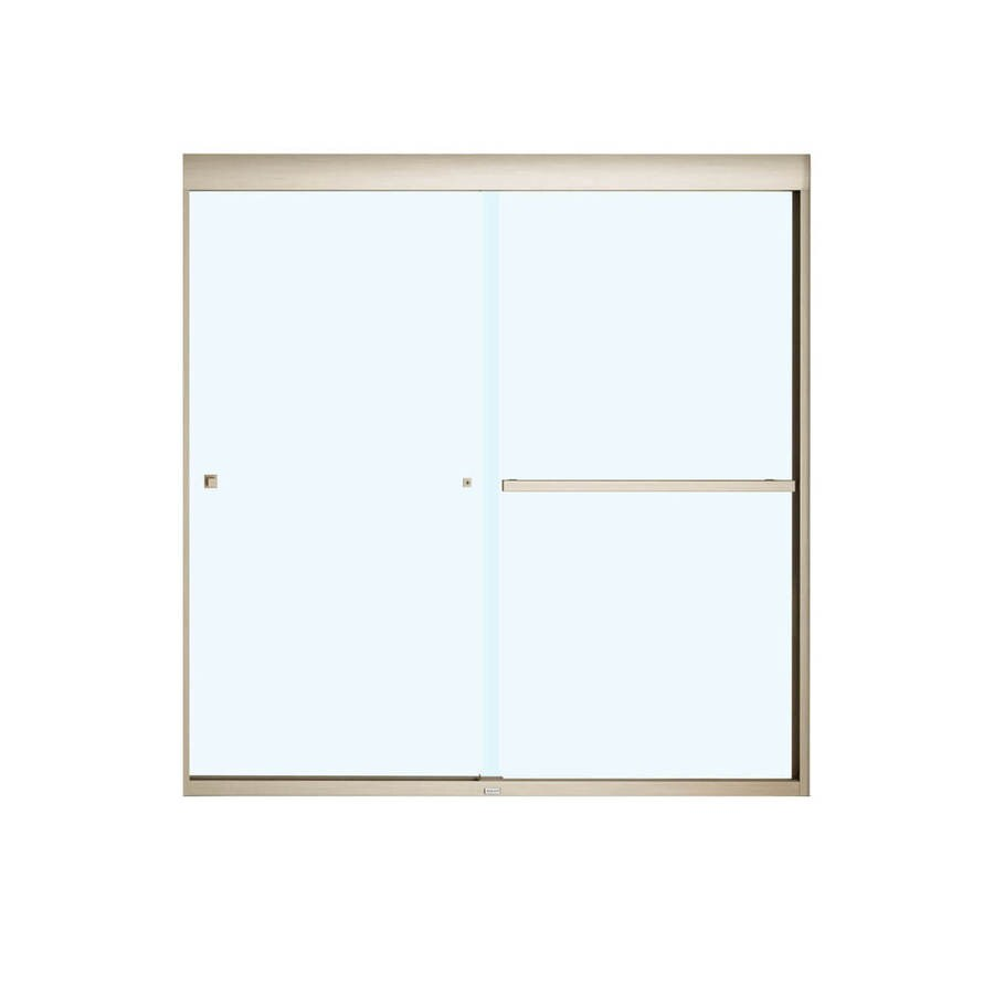 MAAX Aura 8 Soft Close 59-in W x 57-in H Frameless Bathtub Door