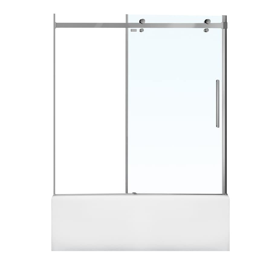 MAAX Halo 60-in W x 59-in H Frameless Bathtub Door