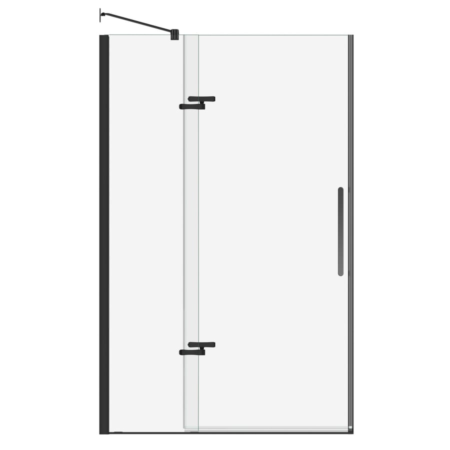 MAAX Bliss 44-in to 47-in W Frameless Dark Bronze Pivot Shower Door