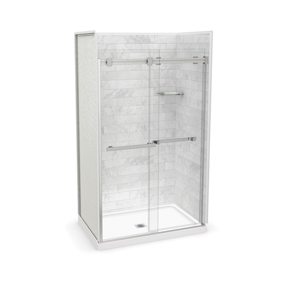 Shop MAAX Utile Marble Carrara Fiberglass/Plastic Composite Wall and ...