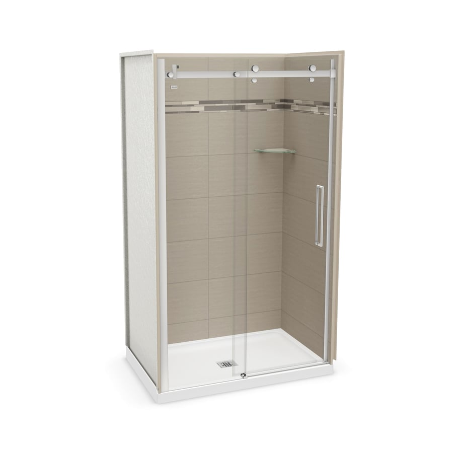 MAAX Utile Origin Greige Fiberglass/Plastic Composite Wall and Acrylic Floor 5-Piece Alcove Shower Kit (Common: 32-in x 48-in; Actual: 83.5-in x 32-in x 47.875-in)