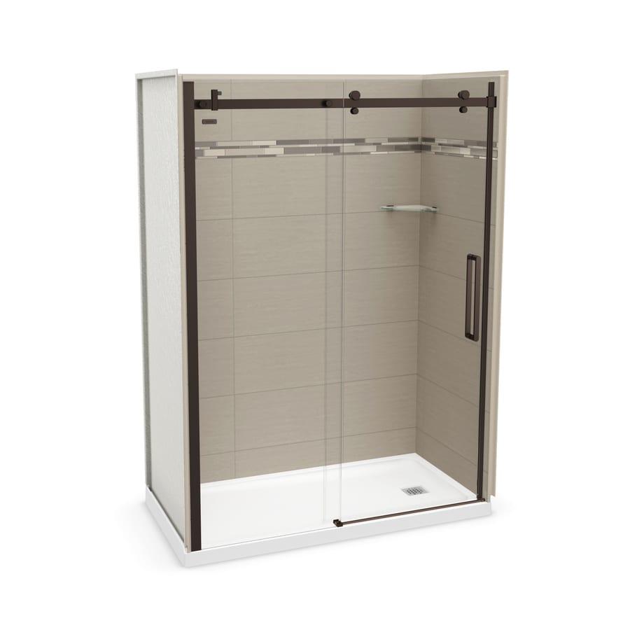 MAAX Utile Origin Greige Fiberglass/Plastic Composite Wall and Acrylic Floor 5-Piece Alcove Shower Kit (Common: 32-in x 60-in; Actual: 83.5-in x 32-in x 59.875-in)