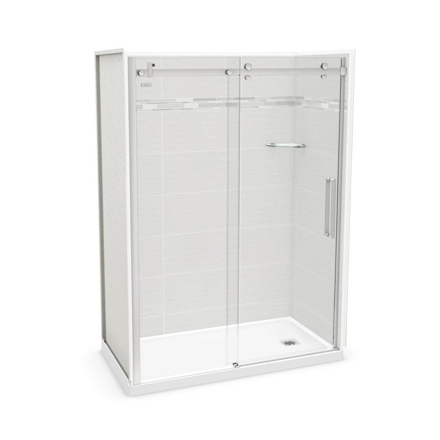 MAAX Utile Origin Arctik Fiberglass/Plastic Composite Wall and Acrylic Floor 5-Piece Alcove Shower Kit (Common: 32-in x 60-in; Actual: 83.5-in x 32-in x 59.875-in)